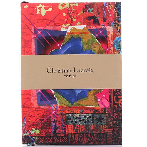 Блокнот Christian Lacroix Rose Garden с абстрактным принтом и крупными орхидеями, фото