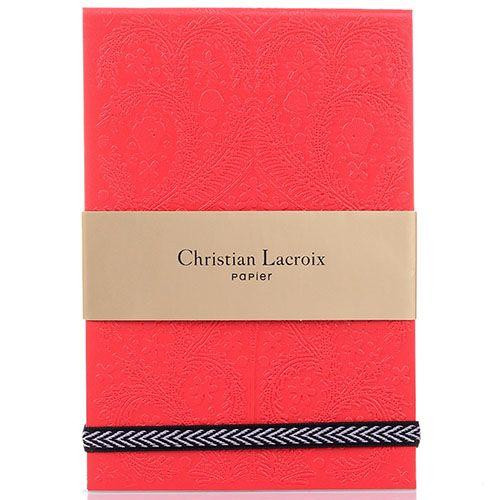 Блокнот Christian Lacroix Papier Paseo Scarlet красный, фото
