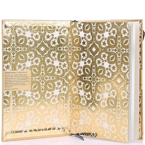 Блокнот Christian Lacroix Papier Paseo золотой А5 в твердом переплете, фото