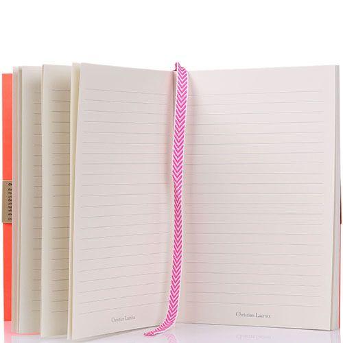 Блокнот Christian Lacroix Ombre Paseo Neon A5 розовый, фото