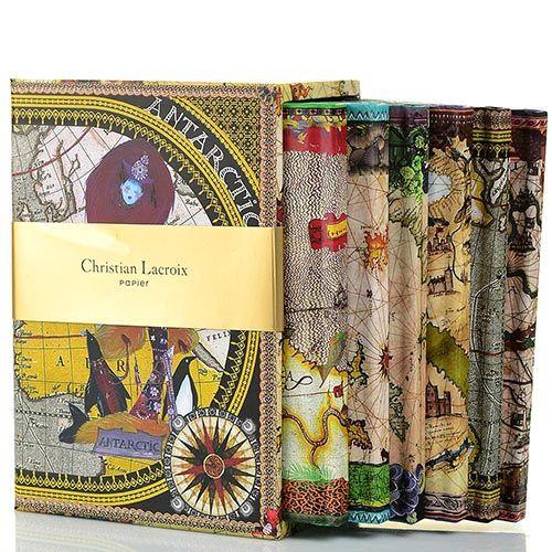 Набор Christian Lacroix Papier Continents из 6 маленьких блокнотов А6 в твердом футляре, фото
