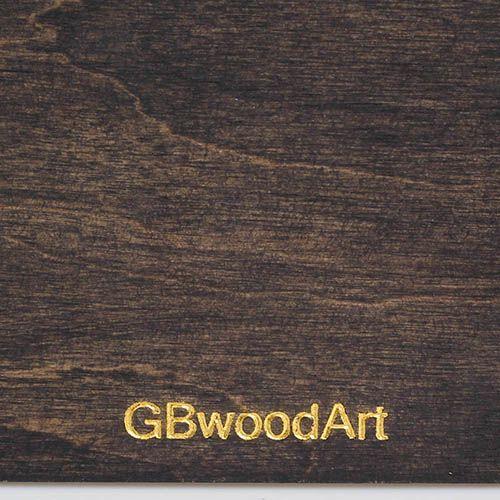 Блокнот с тиснением золотом GBwoodArt из натурального дерева А5, фото