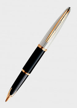 Перьевая ручка Waterman Carene Deluxe Black/Silver, фото