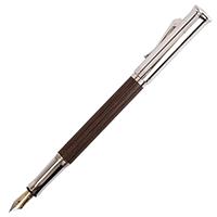 Перьевая ручка Graf von Faber-Castell Grenadilla с коричневым деревянным корпусом, фото