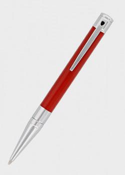 Шариковая ручка S.T.Dupont D-Initial красного цвета, фото