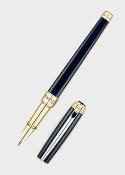 Ручка-роллер S.T.Dupont Line D Windsor с архитектурным узором на колпачке, фото