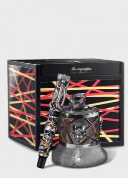 Набор Montegrappa Chaos Sterling Silver Fountain Limited Edition из перьевой ручки и чернильницы, фото