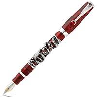Коллекционная перьевая ручка Montegrappa Snake со змеями из серебра, фото