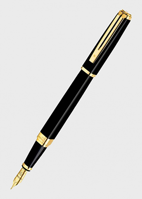 Перьевая ручка Waterman Exception Slim Black GT, фото
