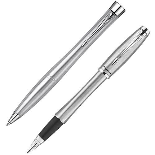 Набор Parker Urban Metro Metallic CT: перьевая и шариковая ручки, фото