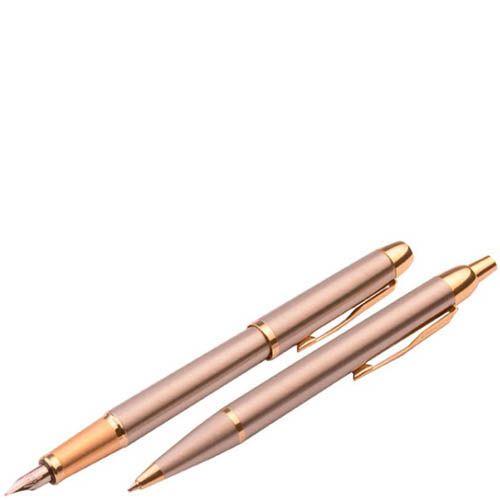 Набор Parker Brushed Metal GT с шариковой и перьевой ручкой, фото