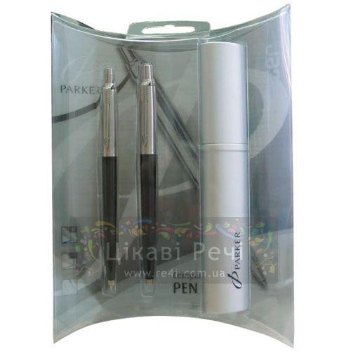 Набор Шариковая ручка - ручка роллер Parker Jotter Standart Black, фото