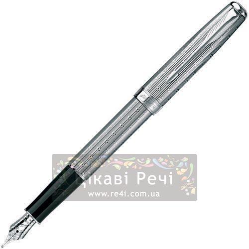 Перьевая ручка Parker Sonnet 08 Chiselled Silver PT, фото