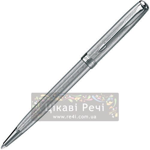Шариковая ручка Parker Sonnet 08 Chiselled Silver PT, фото
