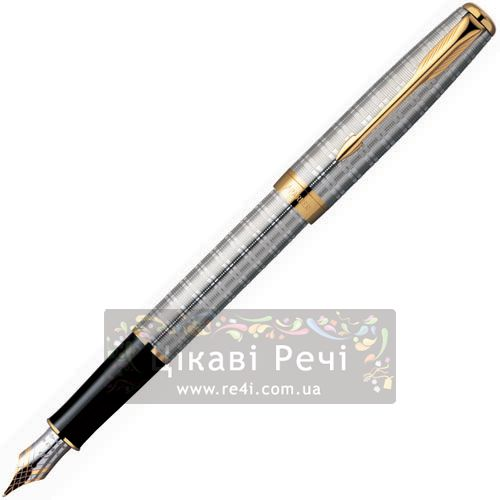 Серебряная перьевая ручка Parker Sonnet 04 Tartan GT, фото