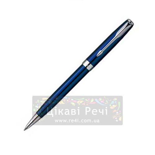 Шариковая ручка Parker Sonnet 04 Laque Ocean Blue ST, фото