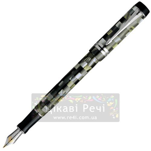 Перьевая ручка Parker Duofold Check Green PT, фото
