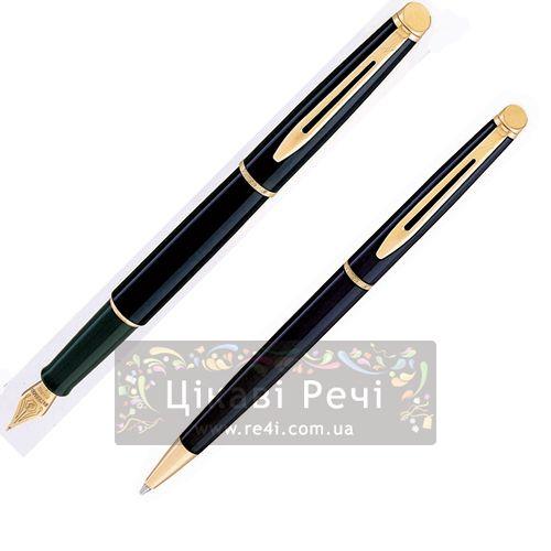 Набор: Шариковая ручка и Перьевая ручка Waterman Hemisphere Black, фото