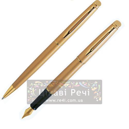 Набор: Шариковая ручка и Перьевая ручка Waterman Hemisphere Stardust Gold GT, фото