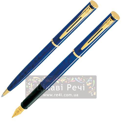 Набор: Шариковая ручка и Перьевая ручка Waterman Apostrophe GT Blue, фото