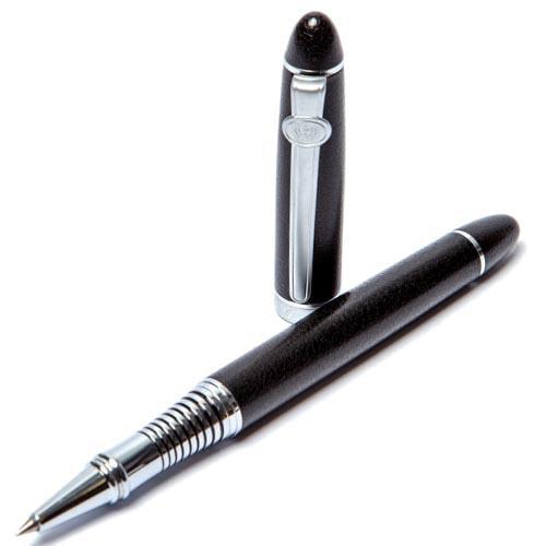Ручка-роллер Duke с черным корпусом и стальными деталями, фото