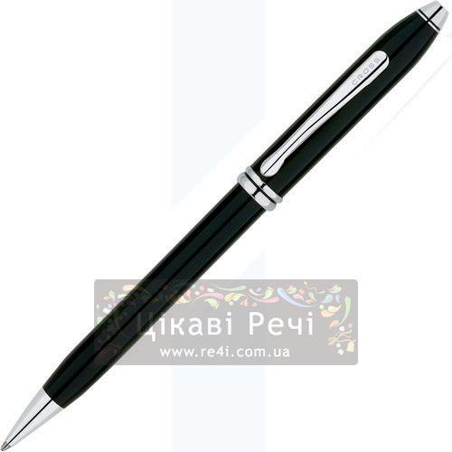Шариковая ручка Cross Townsend Lacq. Black RP, фото