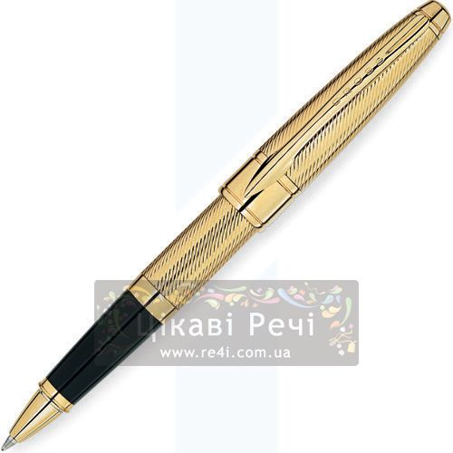 Ручка-роллер Cross Apogee Executive 23K Heavy Gold Plate, фото