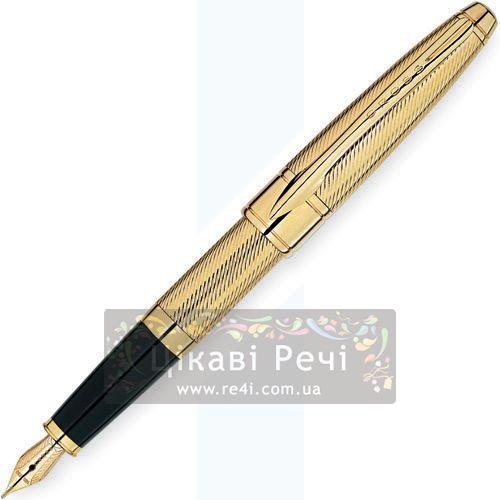 Перьевая ручка Cross Apogee Executive 23K Heavy Gold Plate, фото
