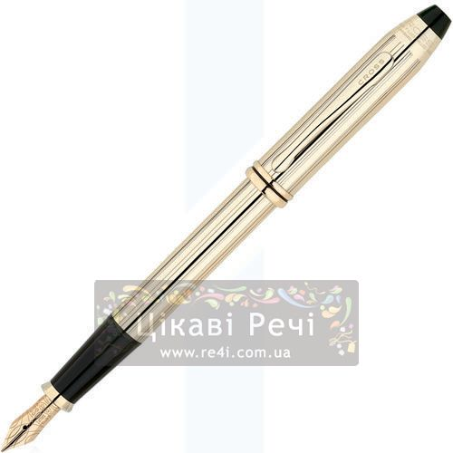 Перьевая ручка Cross Townsend 10 Kar. Rolled Gold, фото