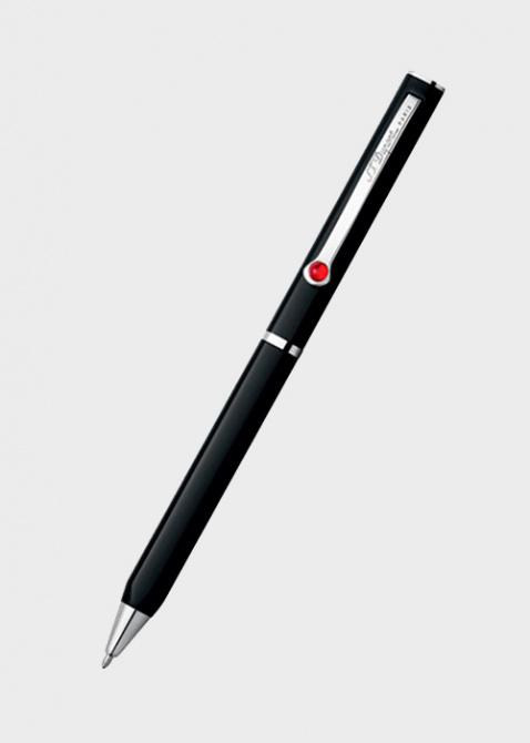 Шариковая ручка S.T.Dupont Mon Dupont с отделкой черным лаком и палладием, фото