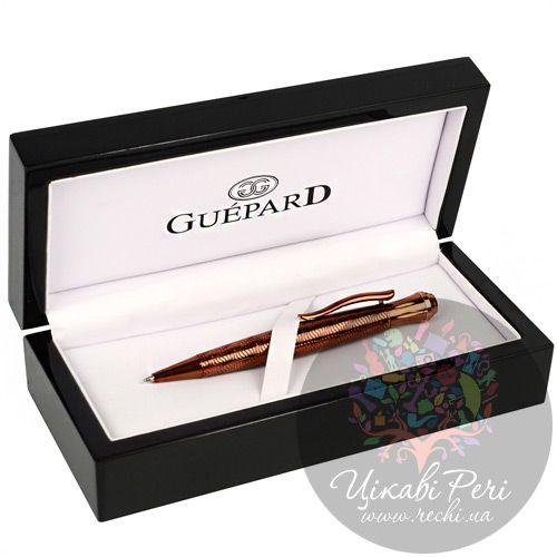 Шариковая ручка Guepard насыщенного сияющего цвета меди, фото