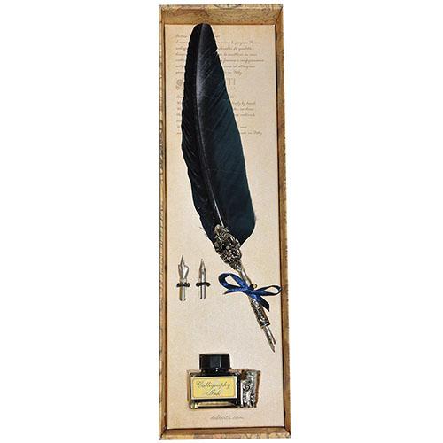 Письменный набор с двумя сменными перьями Dallaiti синего цвета, фото