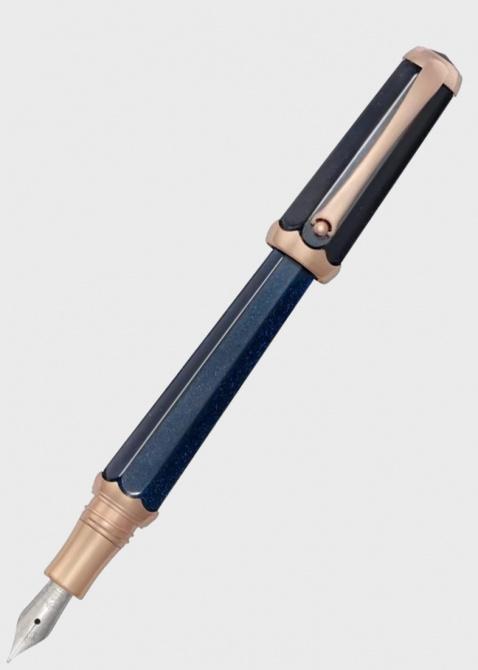 Перьевая синяя ручка Montegrappa Piccola Blue с глиттером, фото