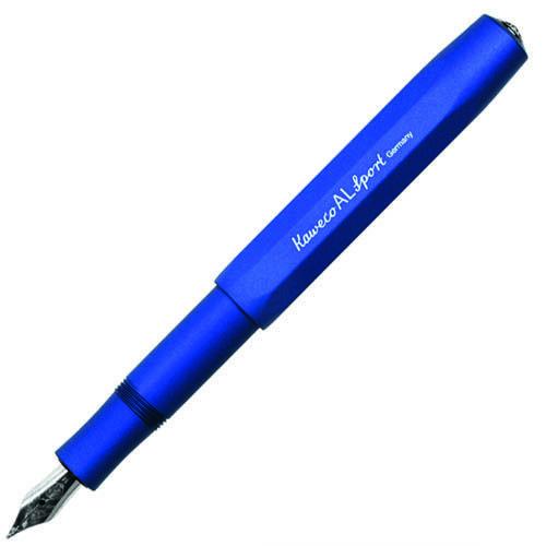 Перьевая ручка Kaweco Al Sport с корпусом синего цвета, фото