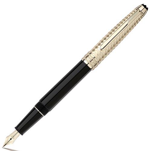 Ручка MontBlanc Meisterstuck Geometric Dimension геометрическим рельефом, фото