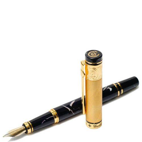 Ручка перьевая Duke Золотая медаль с отделкой под мрамор, фото