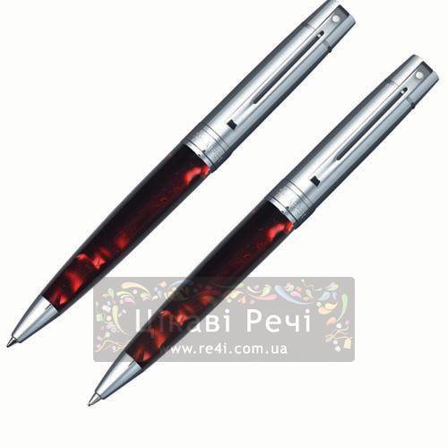 Набор Шариковая ручка/Карандаш Sheaffer Gift Collection 300 Chrome/Perle Red, фото