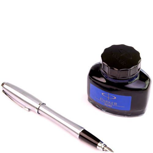 Перьевая ручка Parker Metro Metallic с чернилами