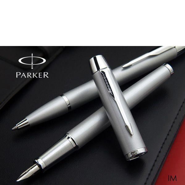 Глянцевая перьевая ручка Parker IM Blue CT