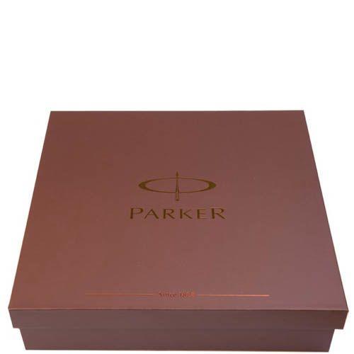 Ручка шариковая Parker Brushed Metal Gold GT с чехлом