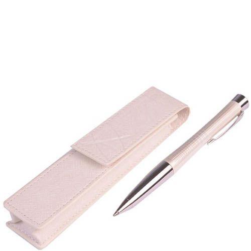 Ручка шариковая Parker с чехлом Premium Pearl Metal Chiselled