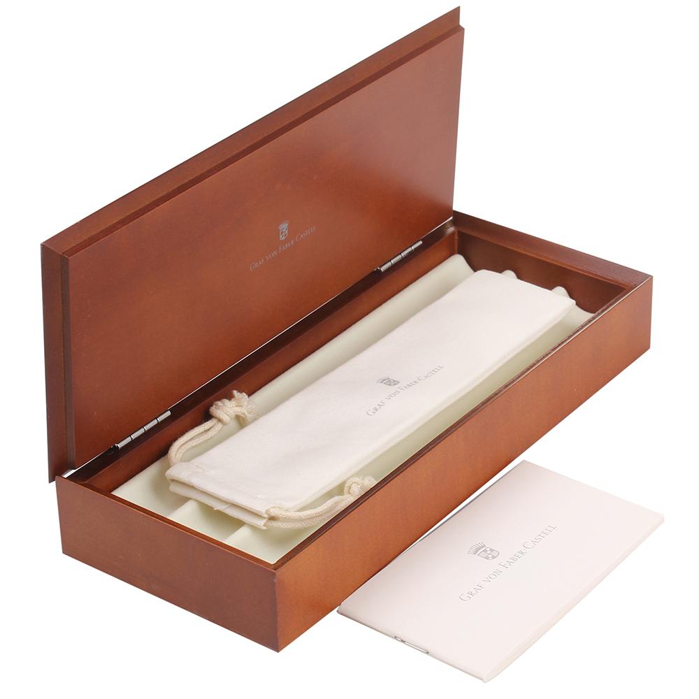 Черная перьевая ручка Graf von Faber-Castell Intuition в толстом корпусе