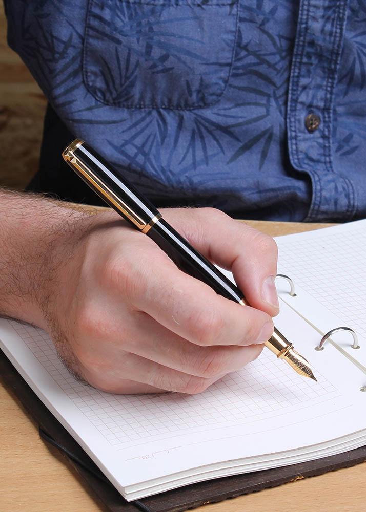 Ручка перьевая S.T.Dupont ELYSEE BLACK GOLD