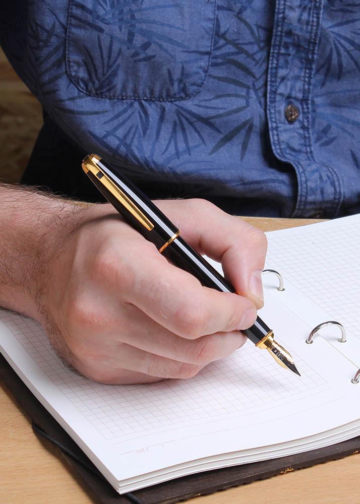 Ручка шариковая S.T.Dupont Olympio MS BLACK LAQ PAL