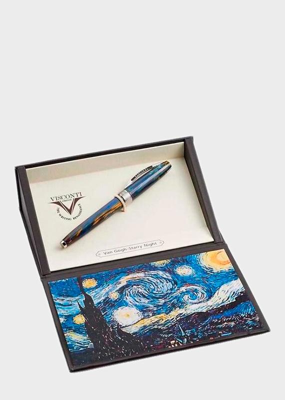 Ручка-роллер Van Gogh Starry Night с фрагментом картины Звездная ночь
