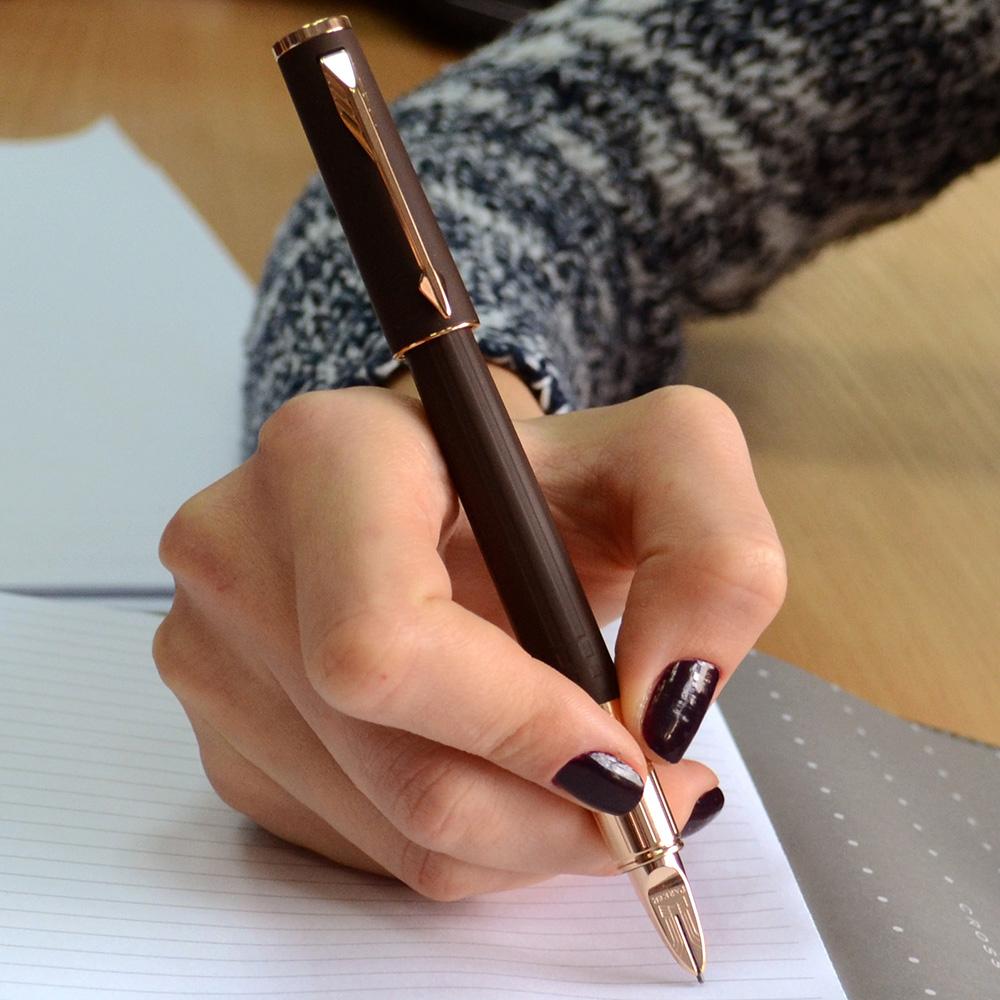 Ручка 5го поколения Parker Ingenuity Slim Brown Rubber PGT