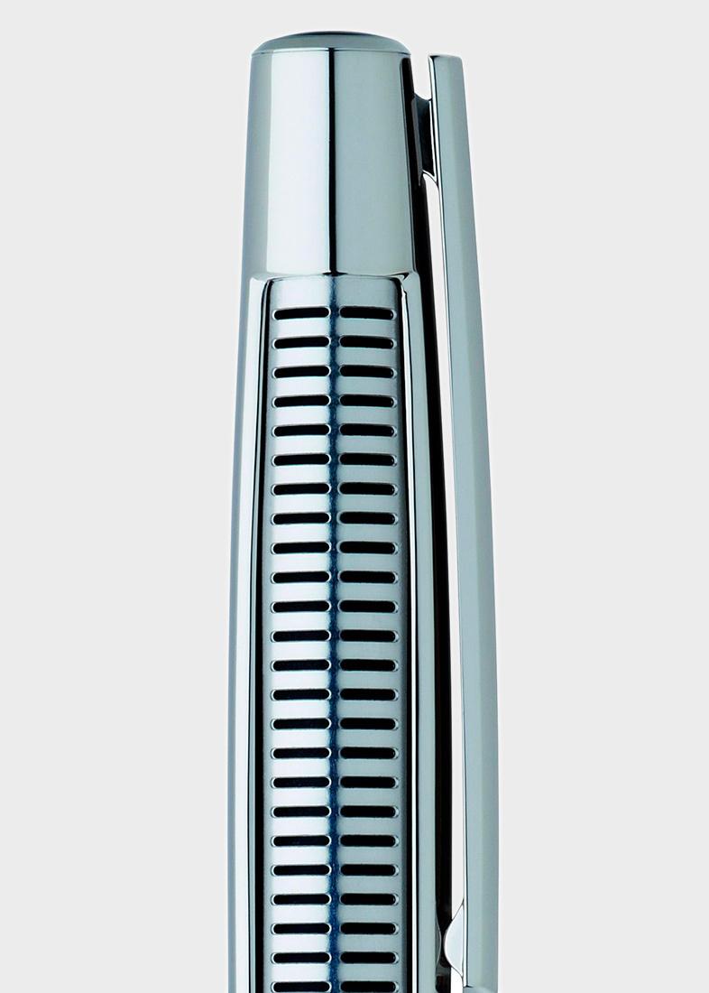 Шариковая ручка S.T. Dupont Defi Perfor с декором-решеткой из стали и палладия