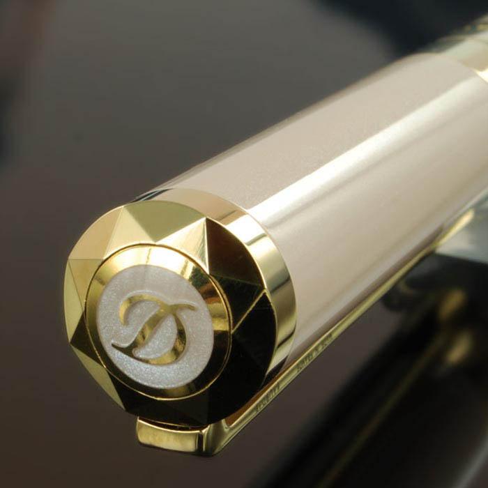 Перламутровая бежевая ручка S.T. Dupont Liberte Рearly с позолотой