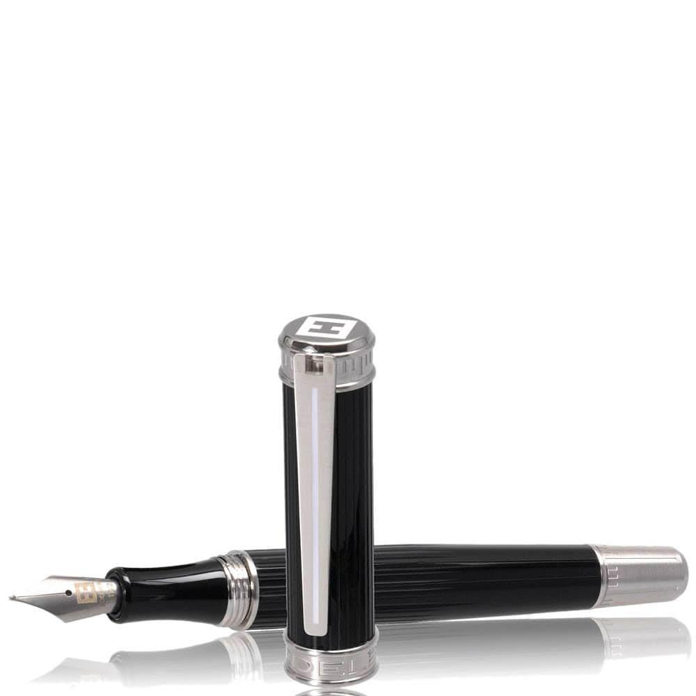 Перьевая рельефная ручка Edelberg Tachys Scope с белой линией