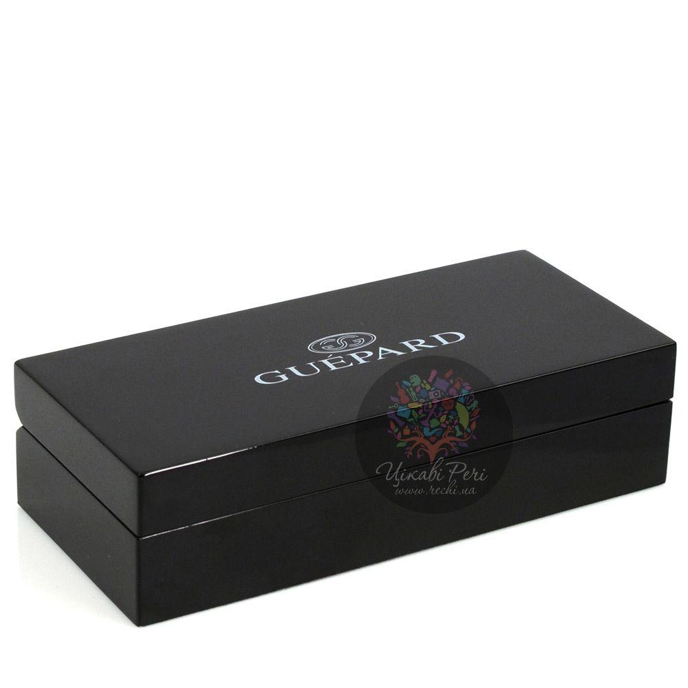 Шариковая карманная ручка Guepard с необычным интересным рельефным корпусом